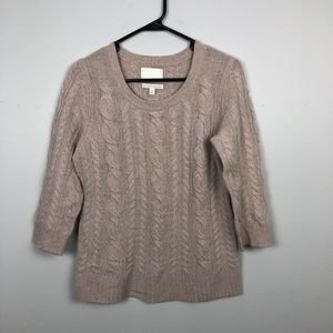 Cynthia Rowley 100% Cashmere Cable Sweater M